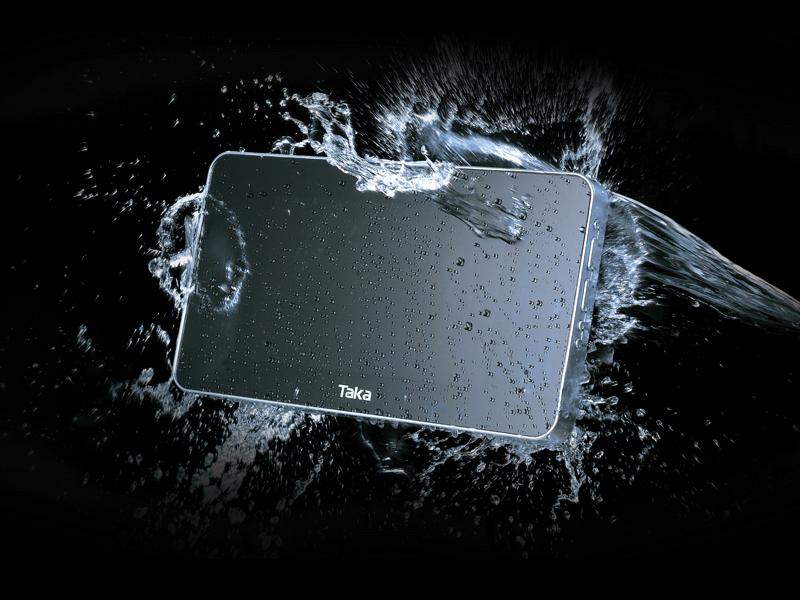 Tragbare fernsehgeräte: wasserdichte und kabellose lcd von splashvision